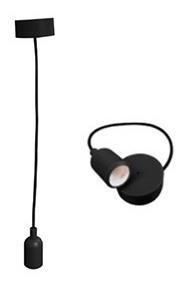 Candil Colgante Tipo Socket Ad-4226 Negro Adir