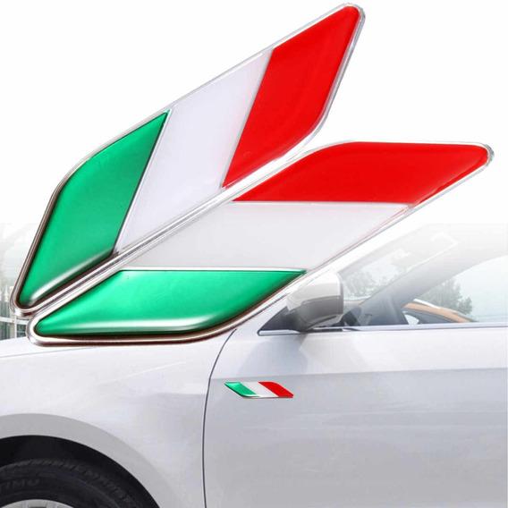 Emblema Lateral Italia Fiat 500 Uno Punto Bravo Palio - Par