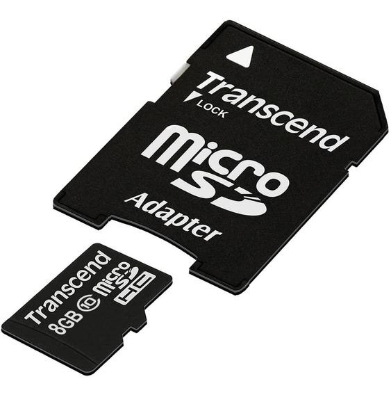 Cartão 8gb Micro Sdhc Classe 10 C/ Adapt Sd - Kit 10 Unid