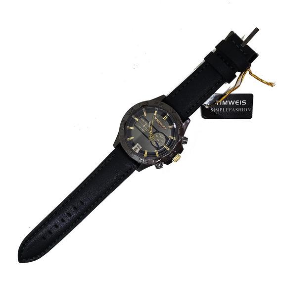 Kit C/ 3 Relógios Masculino Analógico Cores Variadas Timweis