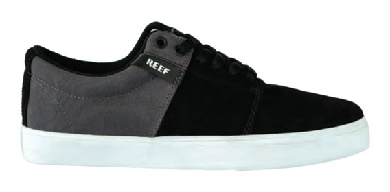 Zapatillas Reef Skilt Black/white/grey Hombre Original