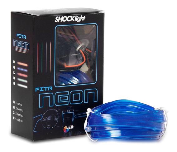Fita Neon Acabamento Interno Azul 3 Metros
