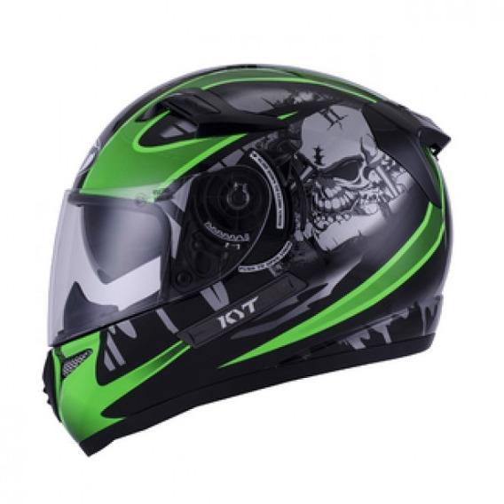 Casco Integral Kyt Venom Strike Black/green En Teo Motos