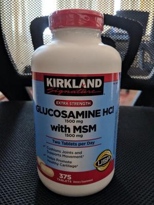 Glucosamina Hci 1500 Mg & Msm 1500 Mg, 375 Tabletas.