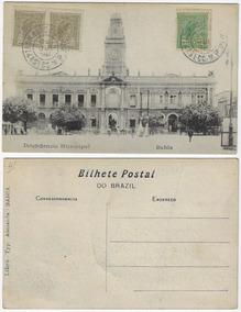 Ba 1920 Cartão Postal Foto Intendência Municipal Em Salvador