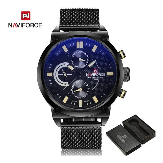 Relógio Masculino Naviforce Original Luxuoso Prova D