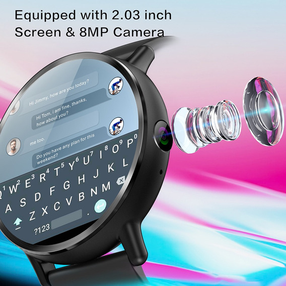 Reloj Inteligente Lemfo Lemx 4g P/teléfono Android 7.1 16 Gb