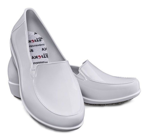 Sapato Social Enfermeira Sticky Shoe Branco Ca 41532