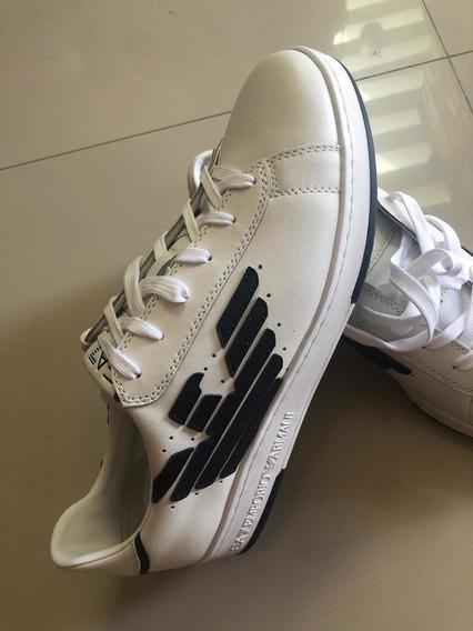 Sneakers Tenis Emporio Armani De Piel 8 Mexicano