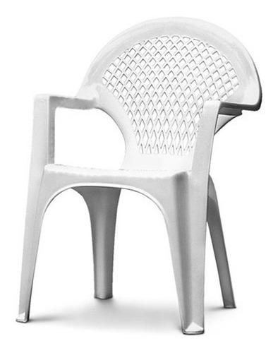Silla Blanca Plástica Para Niños 35x23x50cm G P