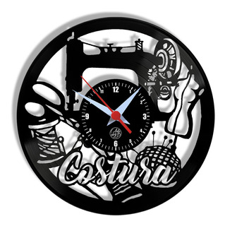 Relógio De Parede Vinil - Costura Profissão