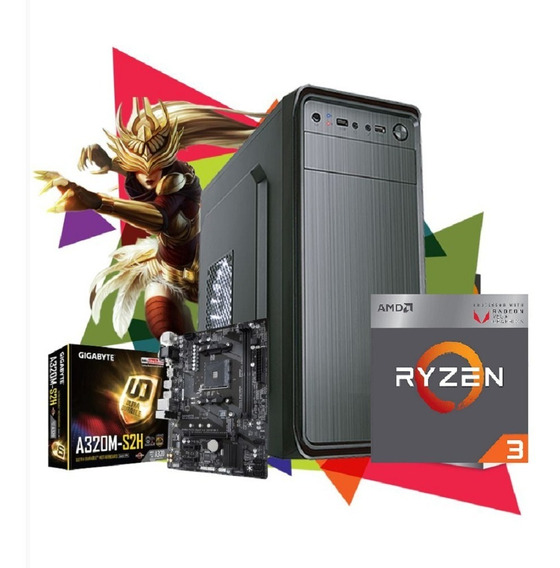 Pc Gamer Amd Ryzen 5 3400g 16gb B450m Ssd 240gb
