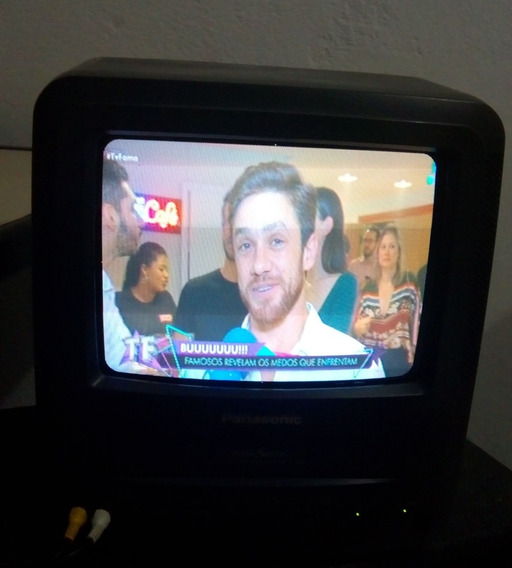 Tv Panasonic 9 Pol Com Video Cassetemod Pv921 No Estado!!!!
