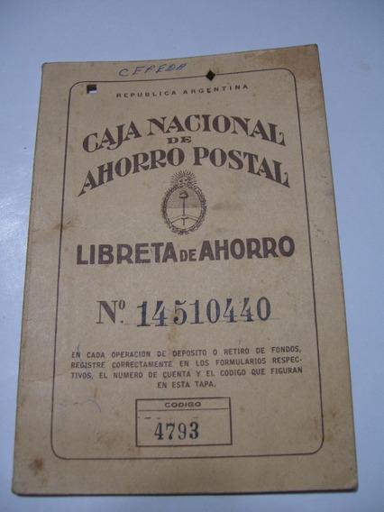 Antigua Libreta De Ahorra Postal Con Estampillas