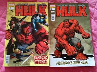 Hq Hulk Vermelho 2 Encadernados Panini