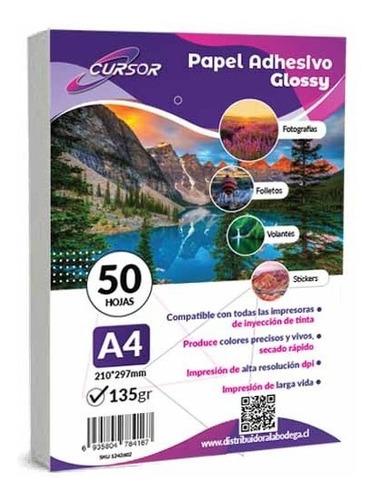 Imagen 1 de 5 de Papel Fotografico A4 135g Glossy Pack 100 Adhesivo