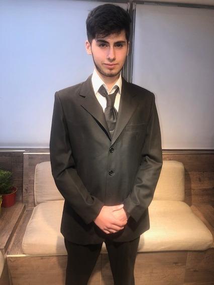 Traje Fabrizi Saco Pantalon Y Corbata, Impecable