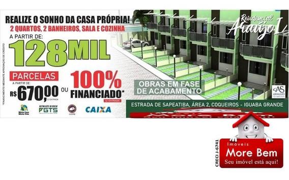 Casa Duplex 2 Quartos Em Iguaba Grande/rj - Lançamento!!!!!! - Cs-1114