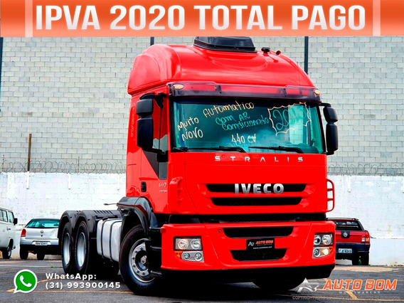 Iveco Stralis 440 Euroshift 6x2 2013 Ipva 2020 Pago