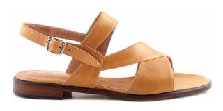 Sandalia Zapato Mujer Cuero Vestir Briganti Tiras Mcsd04611