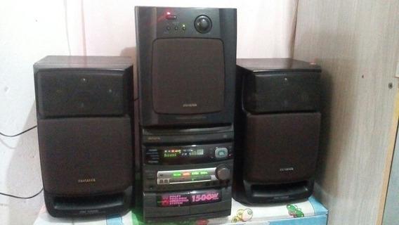 Míni System Aiwa Modelo Nsx-av88 Com Dolby-pro-logic.