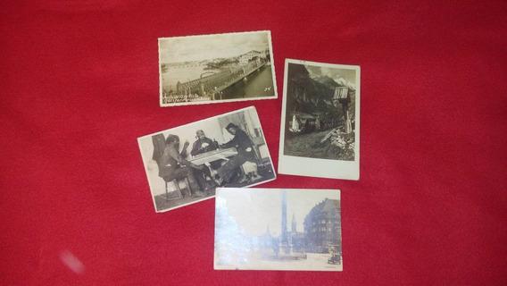 Fotos/postales - Antiguas Años 30 - 40- 50 Lote De 4 Fotos