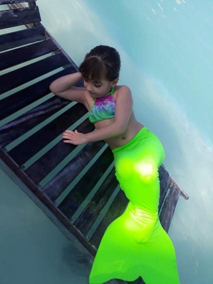 Cauda De Sereia Com Nadadeira + Brinde