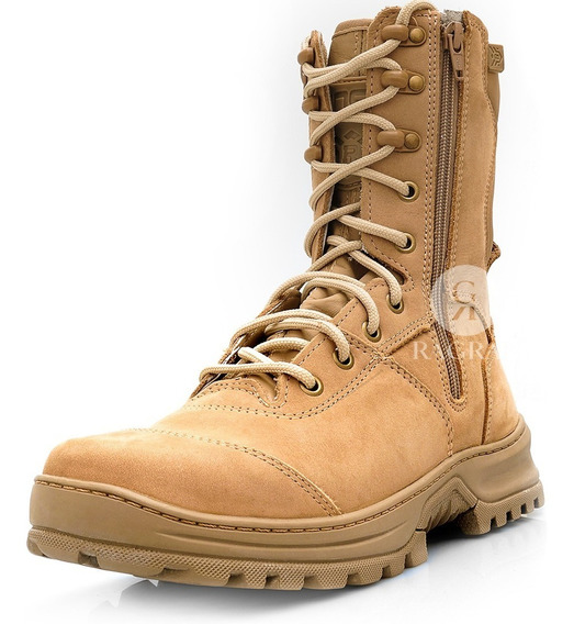 Bota Masculina Feminina American Desert Tatica Militar Couro