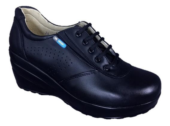 Zapato Negro Plataforma Alto Confort Chef Dr Hosue 1312 Novi