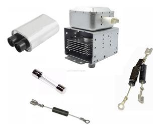1 Magnetron + Fusible +capacitor + Diodo Para Microondas