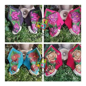 10 Pares De Zapatos Con Plataforma Bordados/artesanales