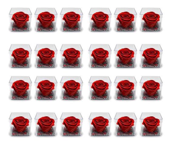 Combo De 36 Lembrancinhas Rosas Encantadas Vermelhas