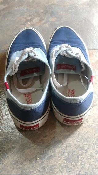 Zapatillas Coca Cola Kick Hombre Azul/celeste Talle 42 Arg