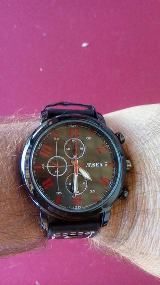 Relógio Masculino Pulseira De Couro Militar O.t.sea