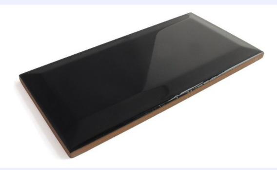 Azulejo Negro Biselado 10x20