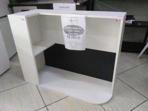 Escrivaninha De Canto Paint Gebb Web Branca M9020