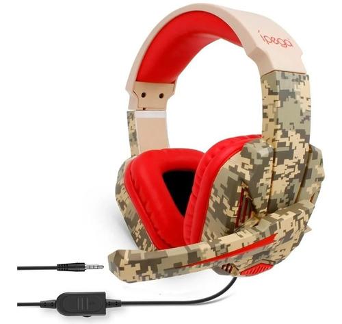 Audifonos Diadema Gamer Ps4 Y Xbox One Ipega R005 Camuflado