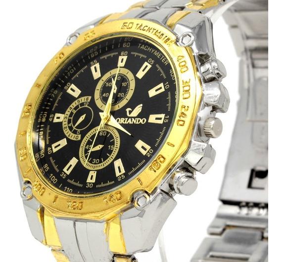 Reloj Análogo Orlando Dorado + Envió Gratis