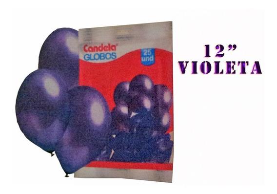 25 Globos Perlados 12 Pulgadas Violeta - Hoy La Golosineria
