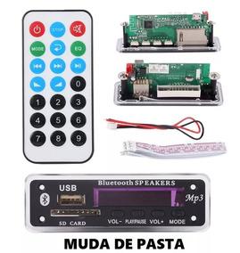 Placa Decodificador Mp3 Bluetooth Usb Aux Cartão Sd
