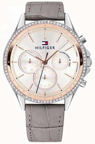 Relógio Tommy Hilfiger Feminino Couro Cinza - 1781980