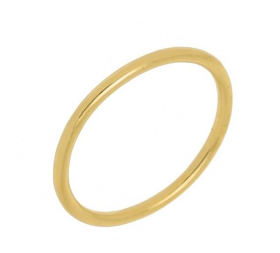 Anel Slim - Prata Com Banho De Ouro