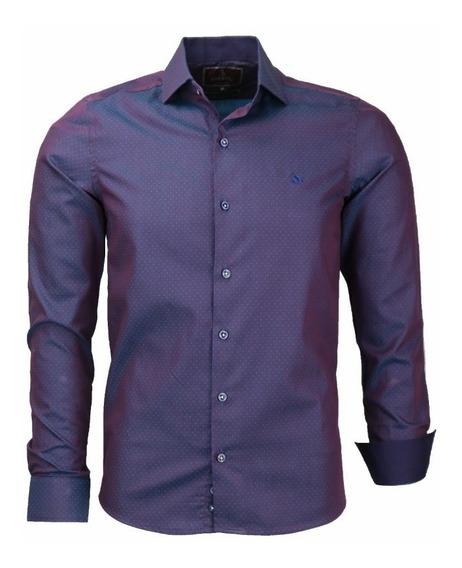 Camisa Chumbo Social Slim Tratad 1274