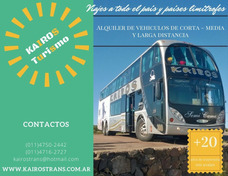 Alquiler De Micros / Omnibus De Larga Distancia Y Escolares