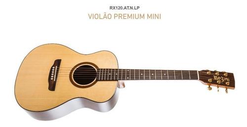 Violão Baby Rozini Rx120 Premium Natural Pré Fishman +capa