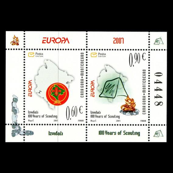 2007 Aniv Movimiento Boy Scouts - Montenegro ( Bloque) Mnh