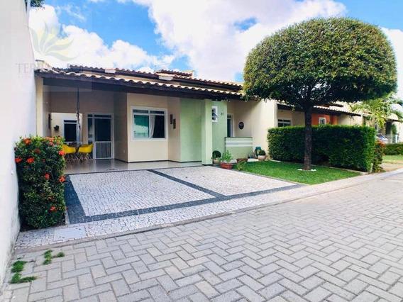 Casa Plana Com 3 Suítes, Dependência E Lazer Completo Em Condomínio Fechado. - Ca0923