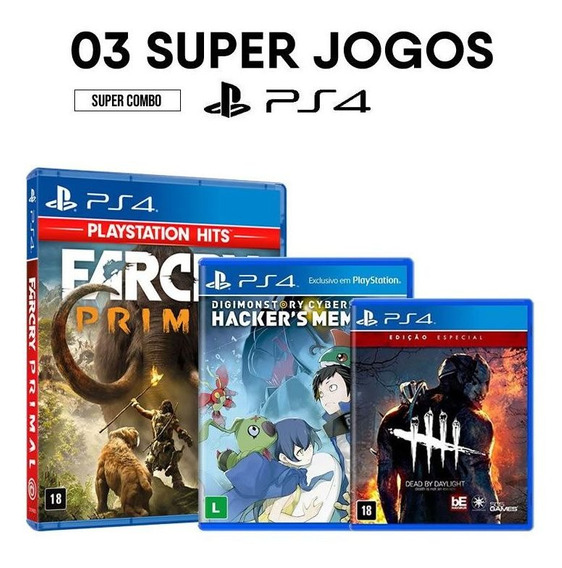 Far Cry: Primal + Digimon Story + Dead By Daylight - Ps4