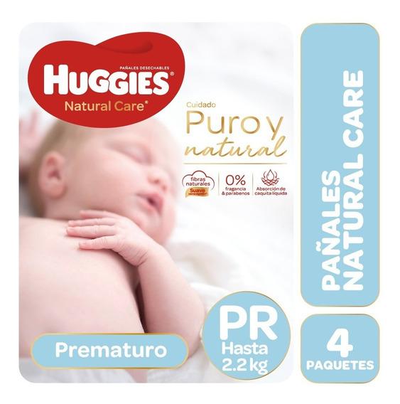 Pañales Huggies Natural Care Pr Pack X 4 Prematuros