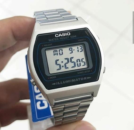 Relógio Cassio B640 Pulso Prata Masculino Aço Novo - Oferta